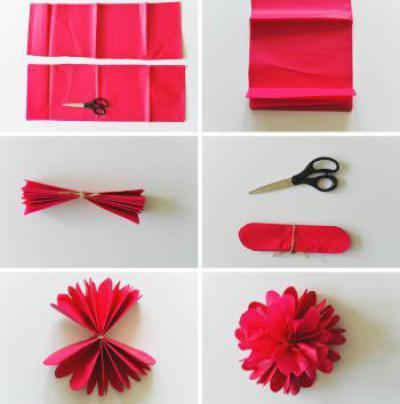 Как сделать из бумаги букет цветов фото 779