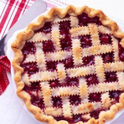 Пирог из вишни со слоеным тестом фото рецептом