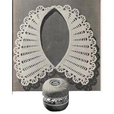 воротник крючком схемы вязания