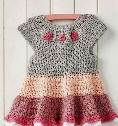 кокетка для детского платья крючком схема вязание крючком для девочек