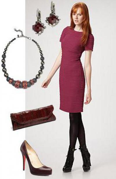 e8742adebadd С чем носить бордовое платье