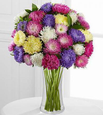 Букеты букет из астр фото букет маленькими розами