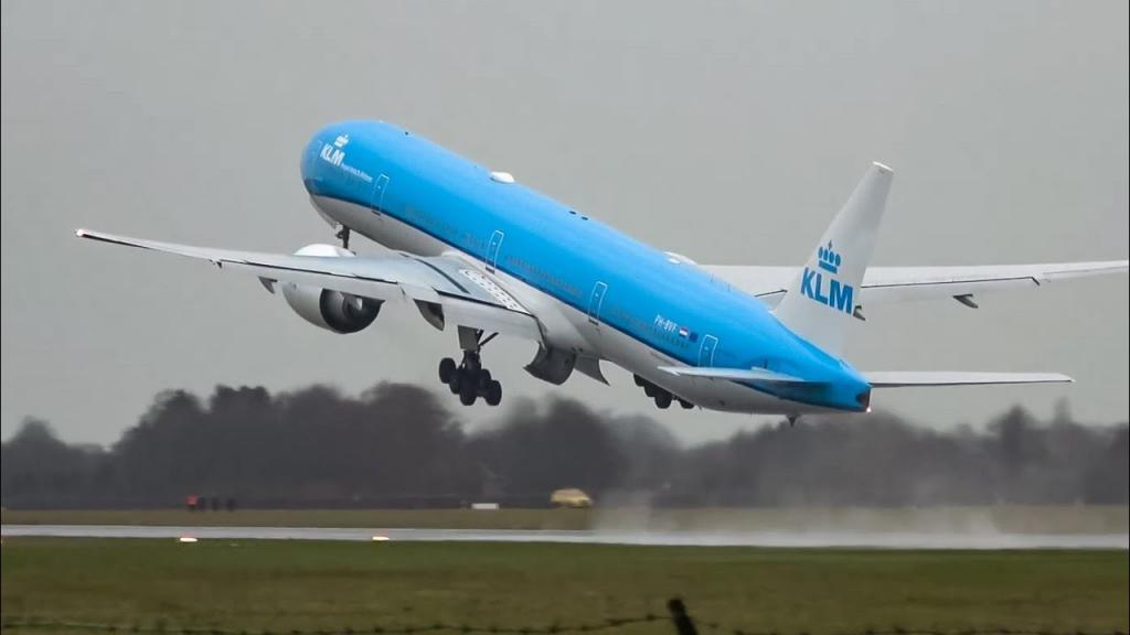 Пилот невероятно технично поднял самолет в воздух, не дав ему приземлиться