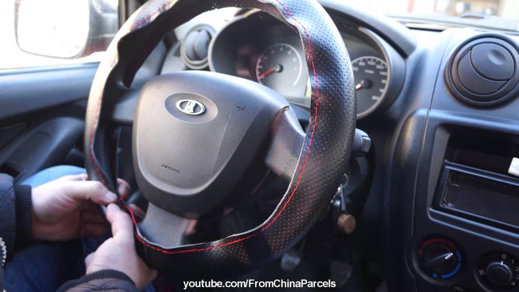 Как правильно подобрать и как надевать оплетку на руль автомобиля