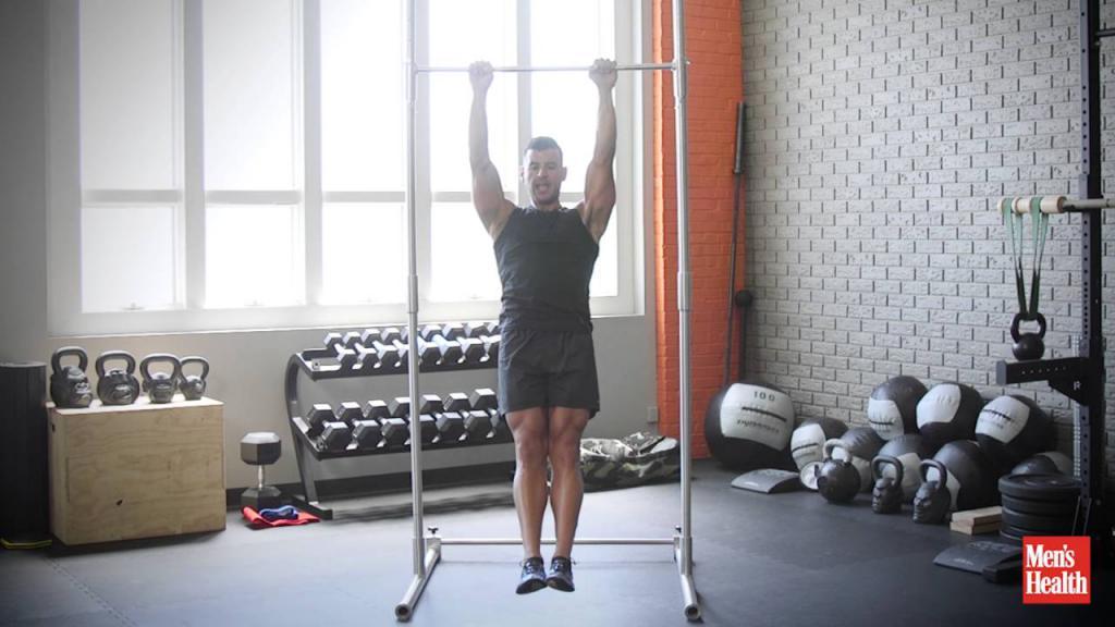 Тренировка трапеции на массу